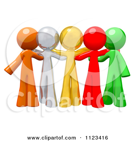 People Getting Together Clipart.