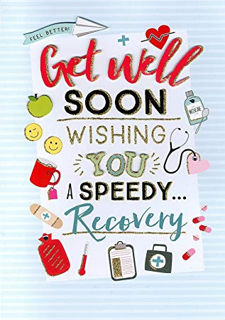Amazon.com: Get Well Soon Gigantic Large Greeting Card.
