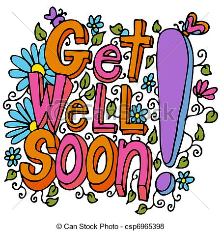 Get well soon Vector Clipart EPS Images. 105 Get well soon clip.