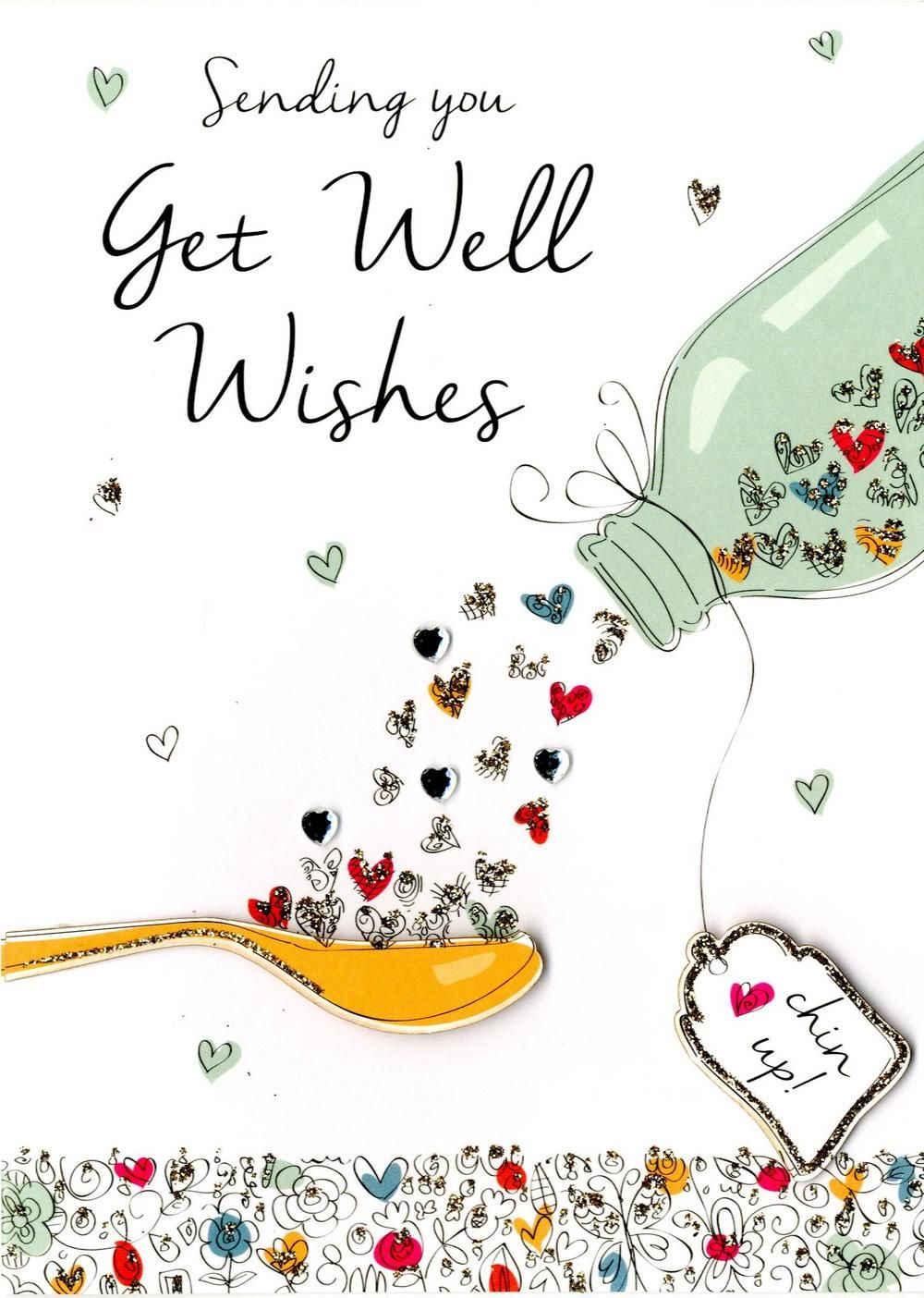 Get Well Wishes Greeting Card.