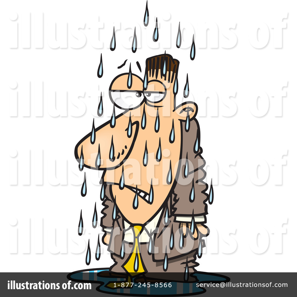 Wet Person Clipart.