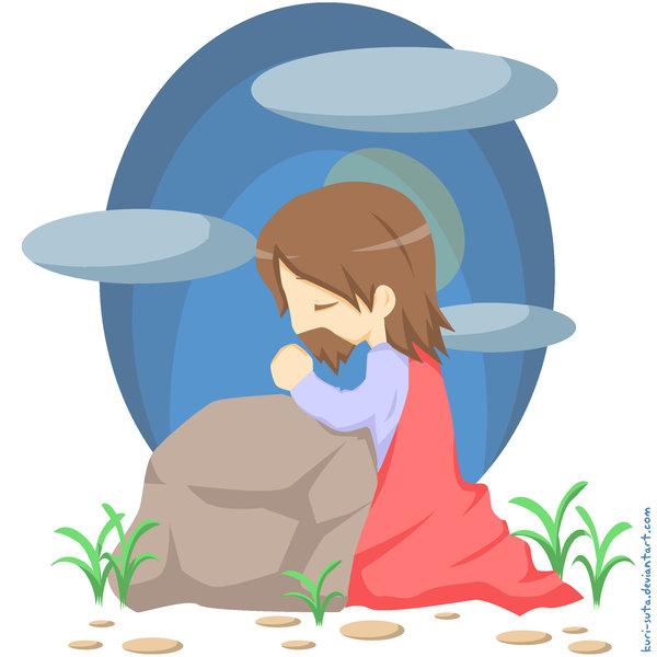 Showing post & media for Jesus praying clip art cartoon.