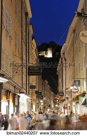 "Picture of ""Getreidegasse alley, old town of Salzburg, Austria."