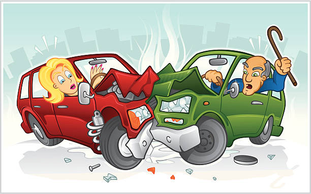 Car Accident Clip Art, Vector Images & Illustrations.