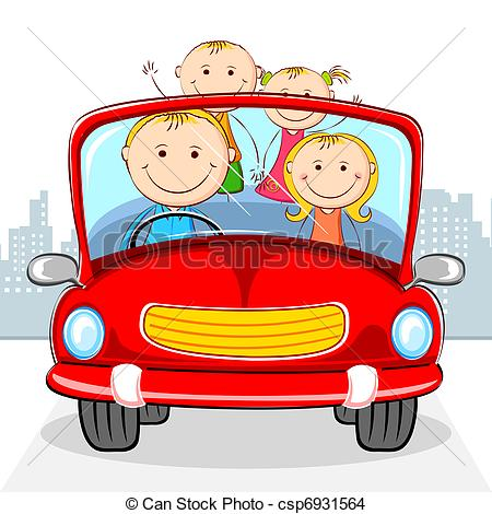 EPS Vector of Family in Car.