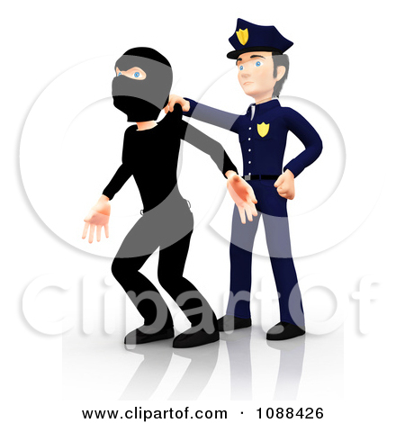 Showing post & media for Cartoon robber getting caught.
