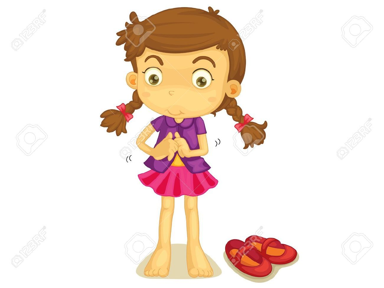 Girl getting dressed in the morning clipart » Clipart Portal.