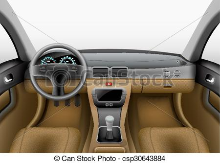 Clip Art Vector of car interior.