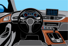 Car Interior Wood Trim Vector Stock Vector.