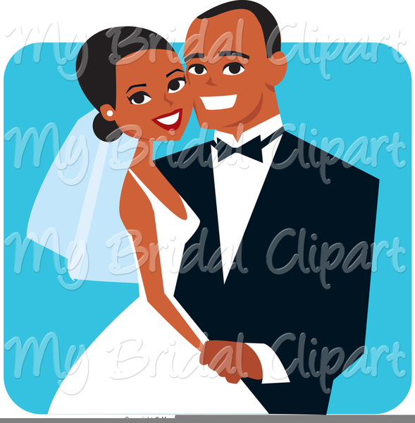 Couple Getting Married Clipart.