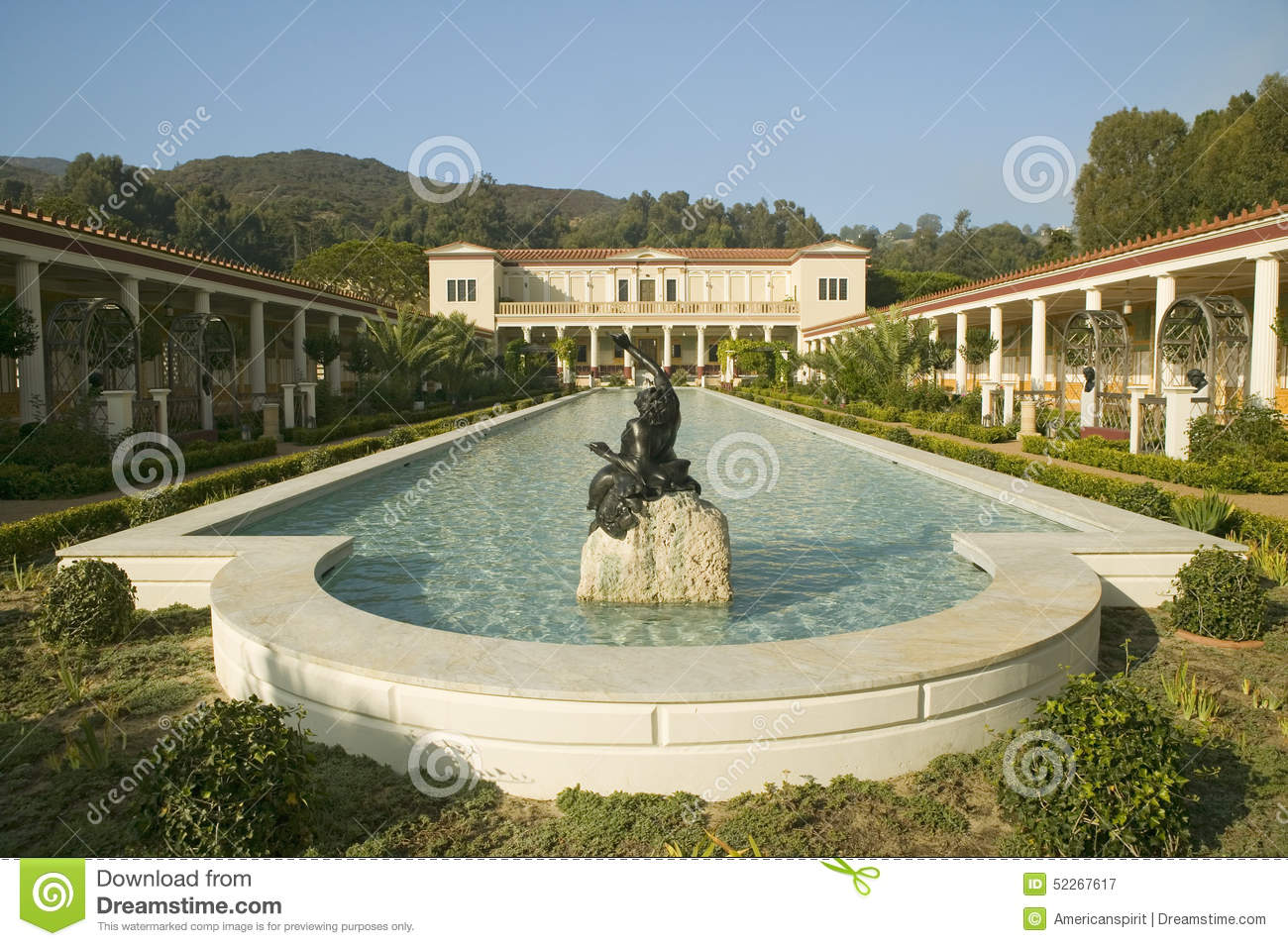Paul Getty Museum Pool Royalty Free Stock Photo.
