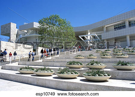 Stock Photograph of California, Los Angeles, Getty Center, Museum.