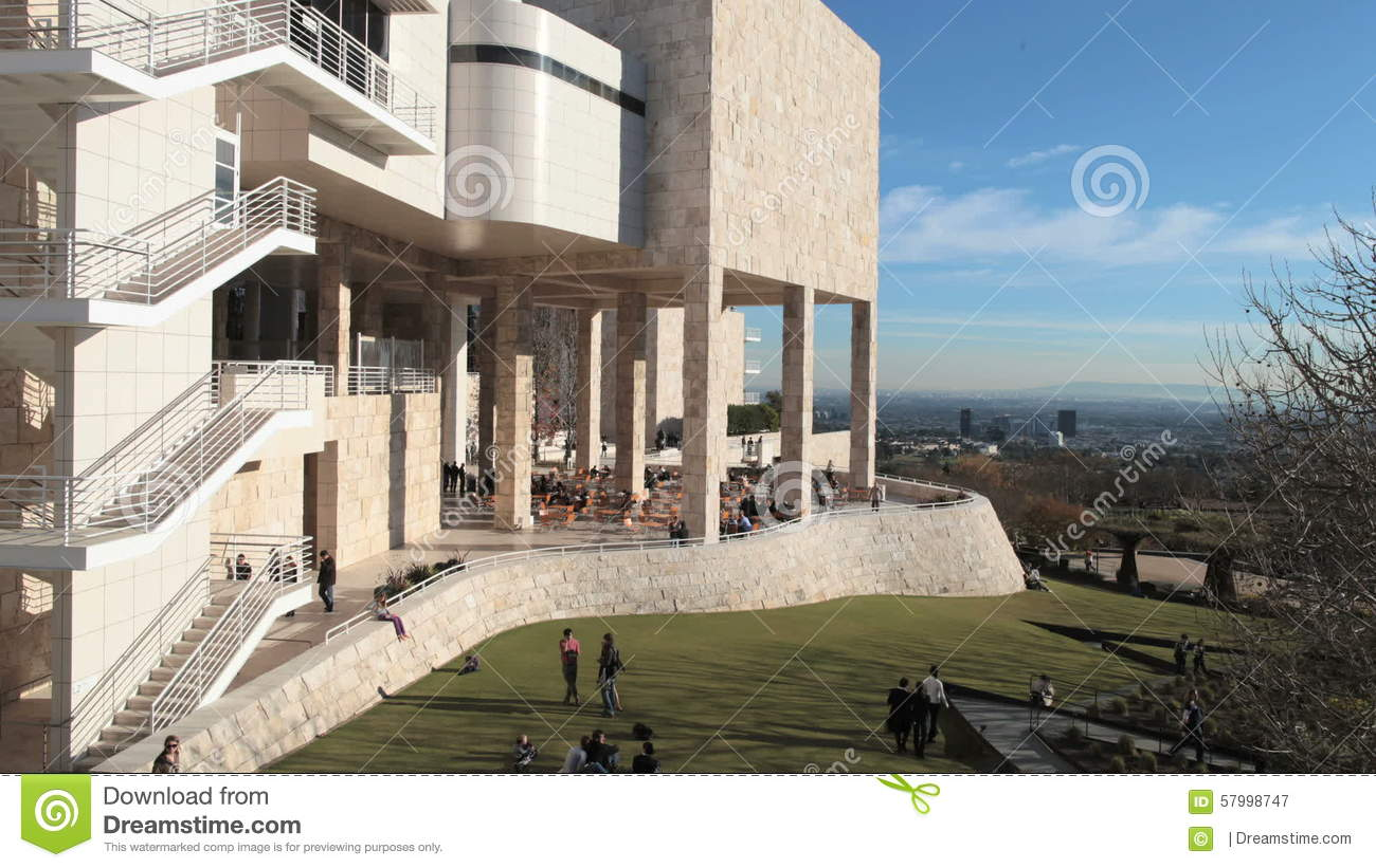Time Lapse Of The Getty Center In Los Angeles.