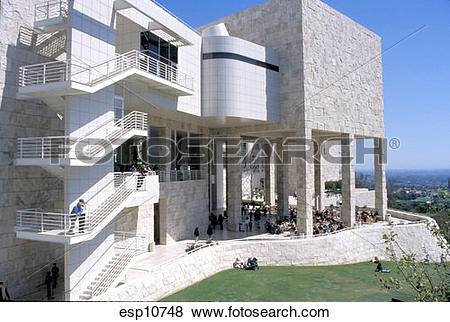 Pictures of California, Los Angeles, Getty Center, Garden Terrace.