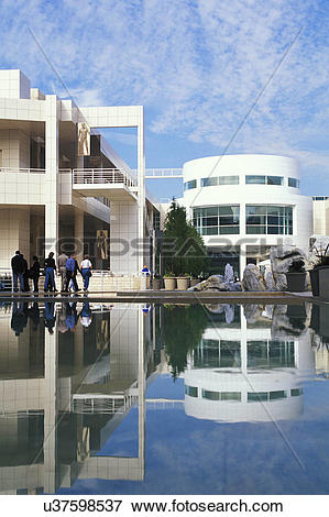Picture of USA, California, Los Angeles, The Getty Center and J.