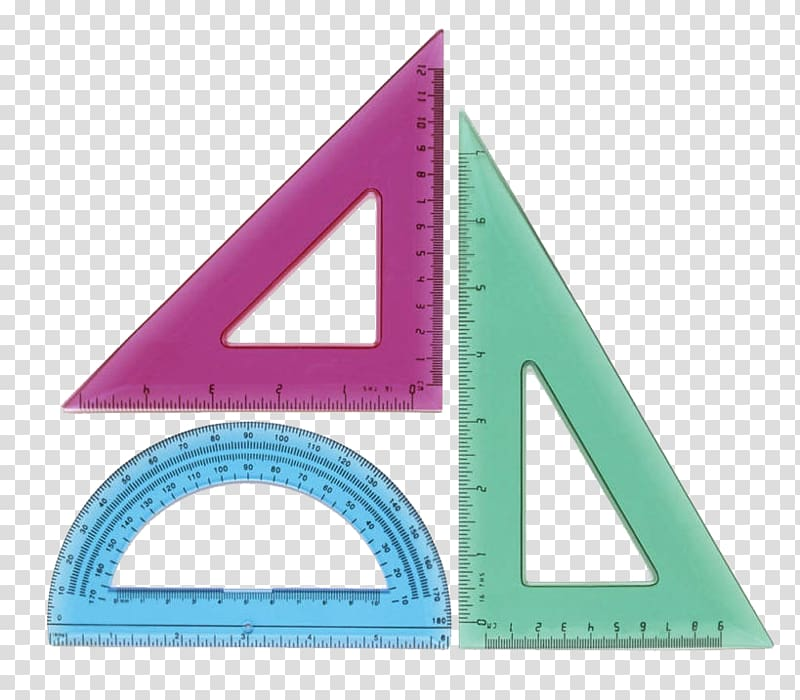 Paper Set square Getty Protractor, Scale package transparent.