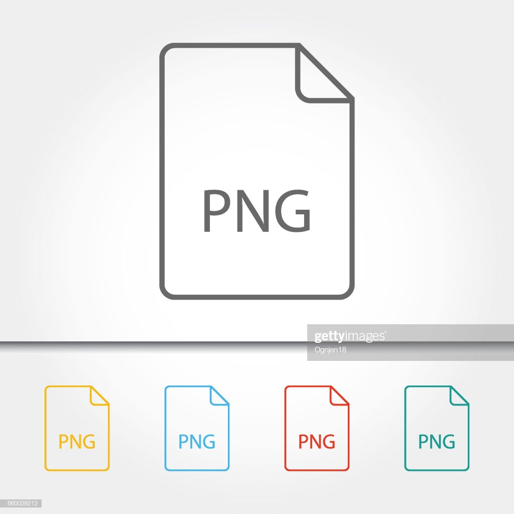 File Type Png Single Icon Vector Illustration Stock Illustration.