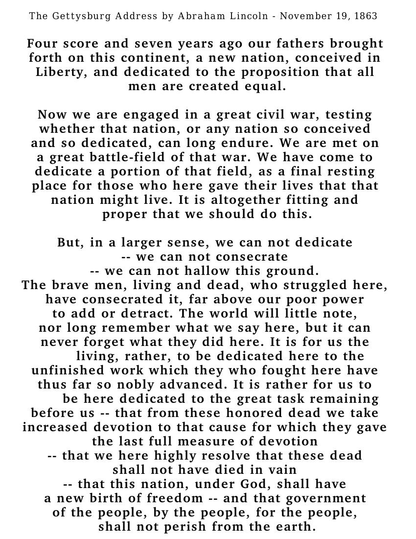 Gettysburg Address Clip Art Download.