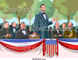 Gettysburg Address Abraham Lincoln Clip Art.