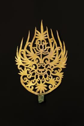 This ornament was excavated from the tomb of King Muryeong in.