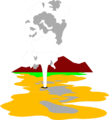 of Old Faithful geyser in.