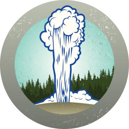 Old faithful geyser clipart.