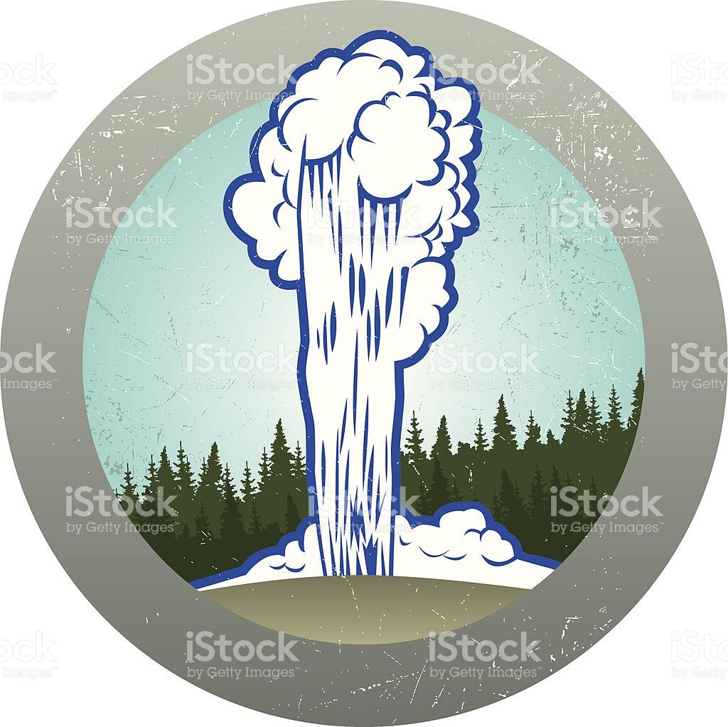 Retro Old Faithful Sticker stock vector art 114267401.