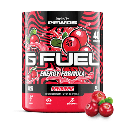 G FUEL Energy Formula: The Official Energy Drink of Esports®.