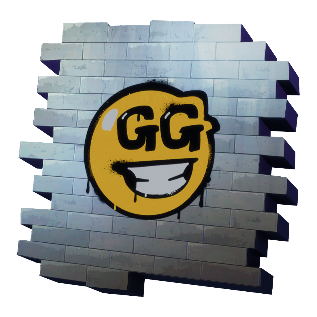 Uncommon GG Smiley Spray Fortnite Cosmetic Tier 14 (S4) Fortnite GG.