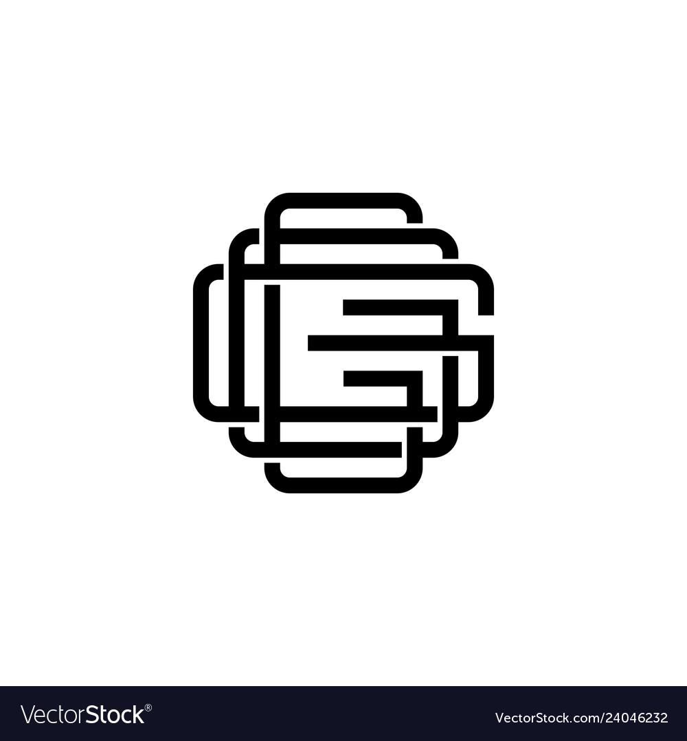 Triple g monogram ggg letter hipster lettermark.