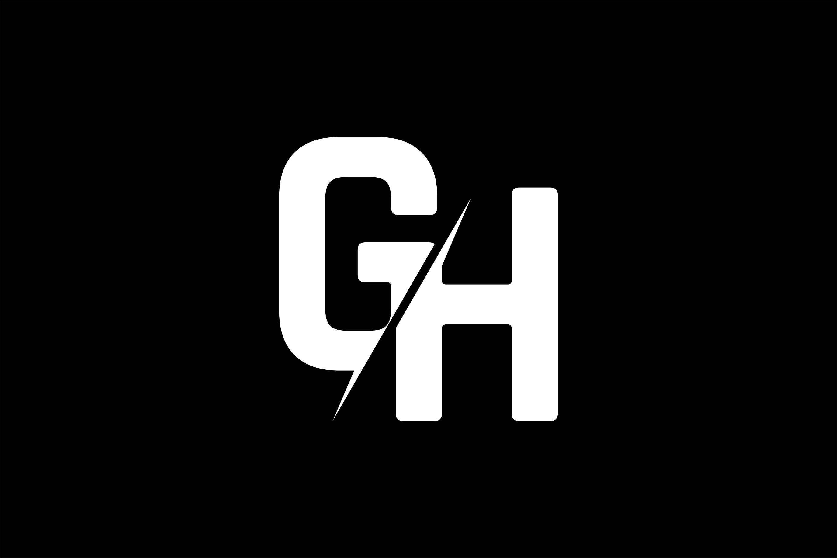 Monogram GH Logo Design.