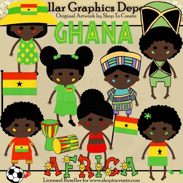 Ghana clipart.