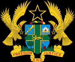 Coat of arms of Ghana.