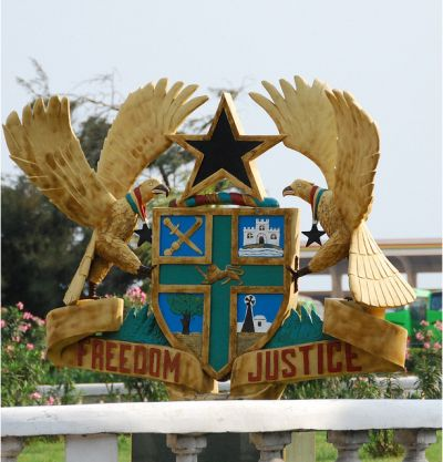 National Arms of Ghana.