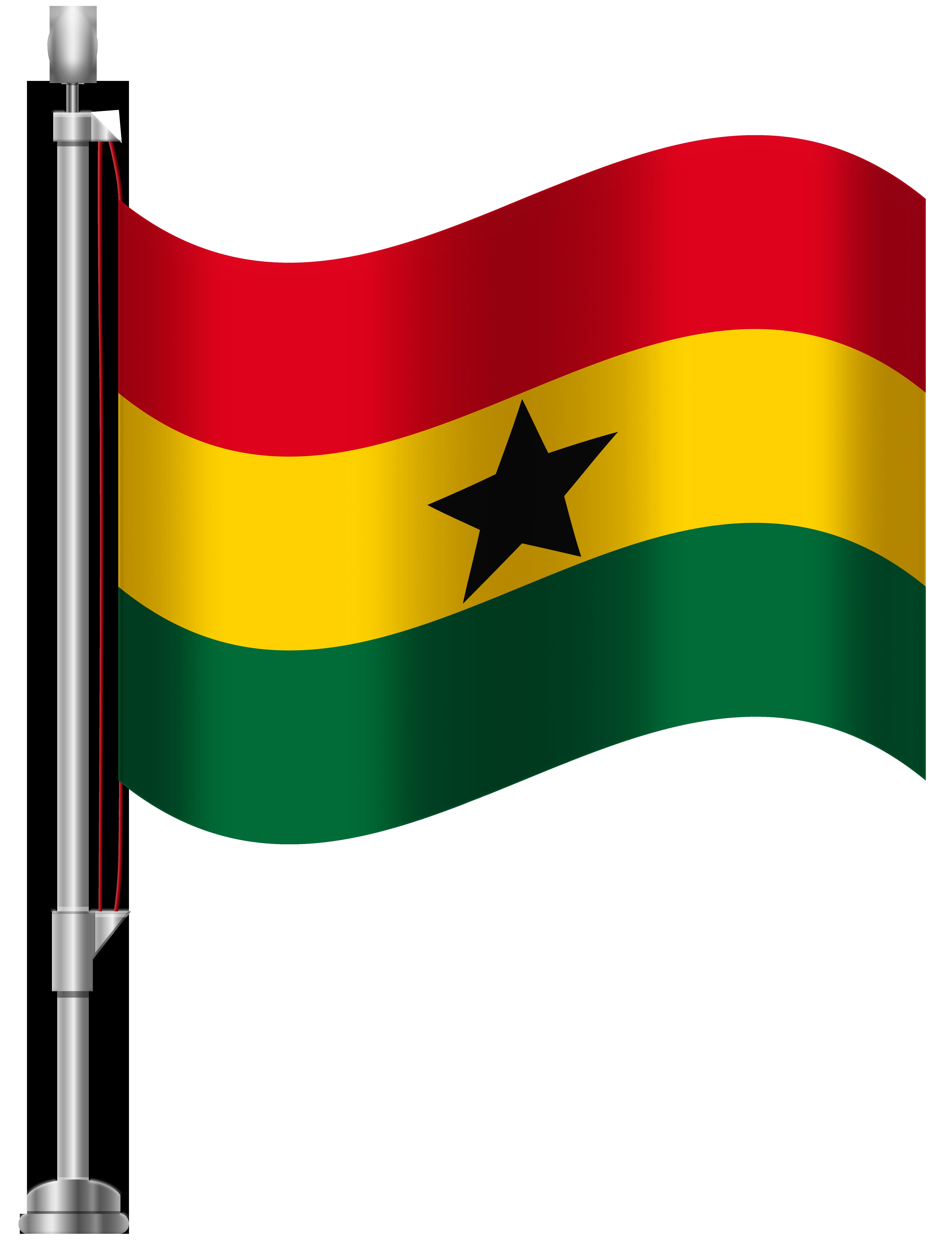 Ghana Flag PNG Clip Art.