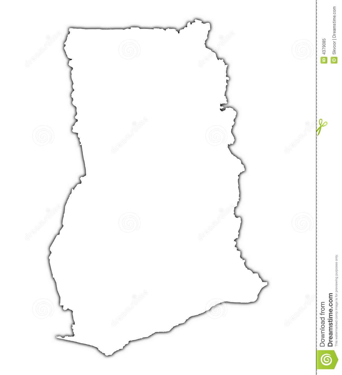 Ghana Map Clipart.
