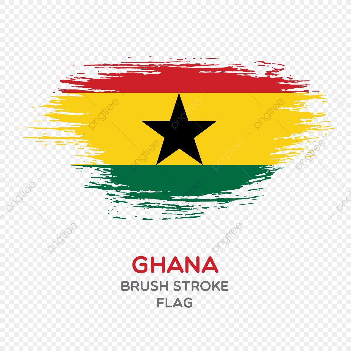 Ghana Brush Stroke Flag, Brush Stroke Flags, Country Flag, National.