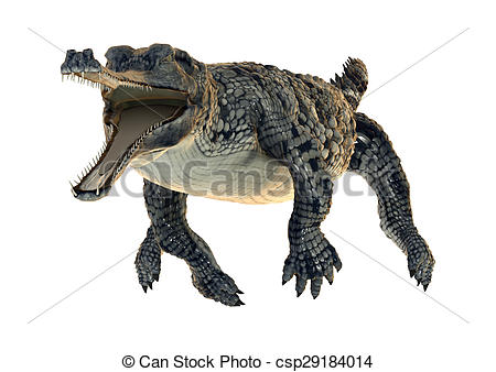 Clipart of Gharial.