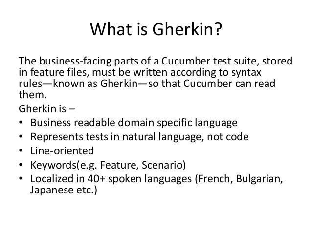 Gherkin Meaning.