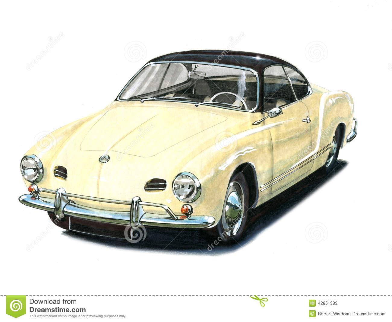 VW Karmann Ghia Editorial Stock Photo.