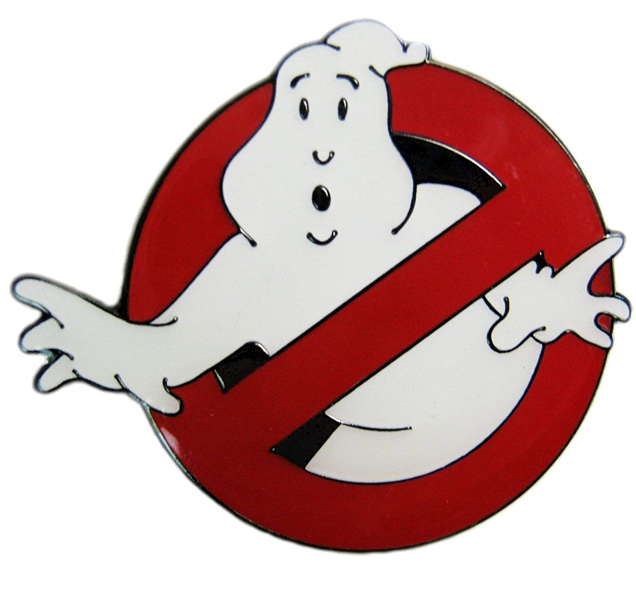 Ghostbusters Movie Logo \'No Ghosts\' Enamel Pin.