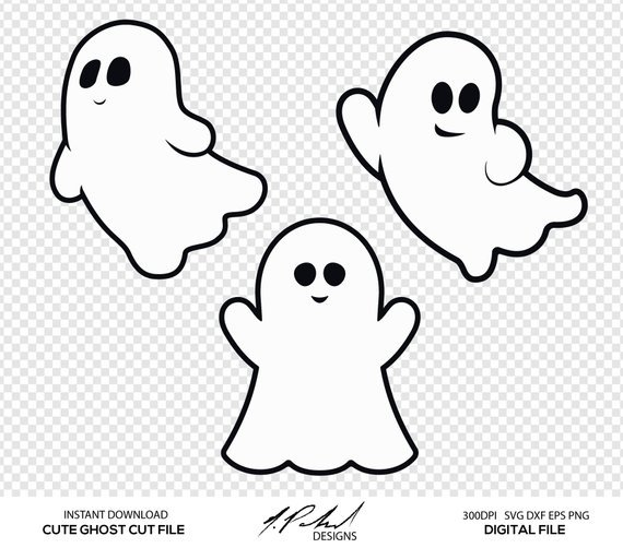 Ghost clipart black and white 2 » Clipart Portal.