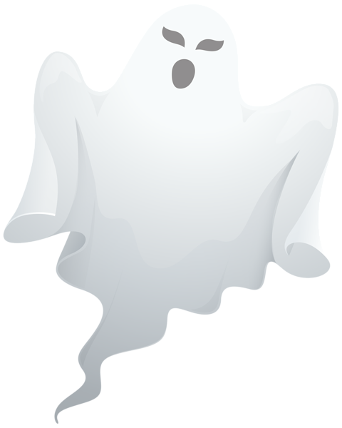 Transparent Ghost Clipart PNG Image.