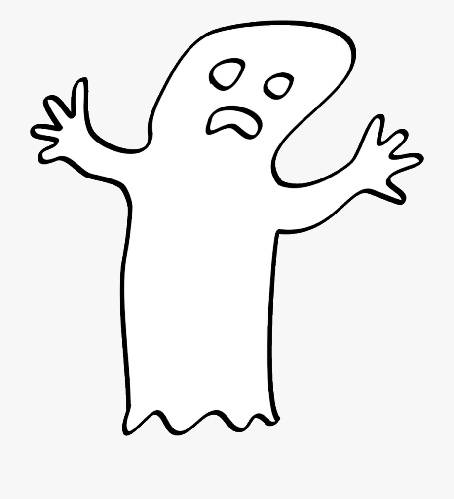 Drawn Ghost Clipart Transparent Background.
