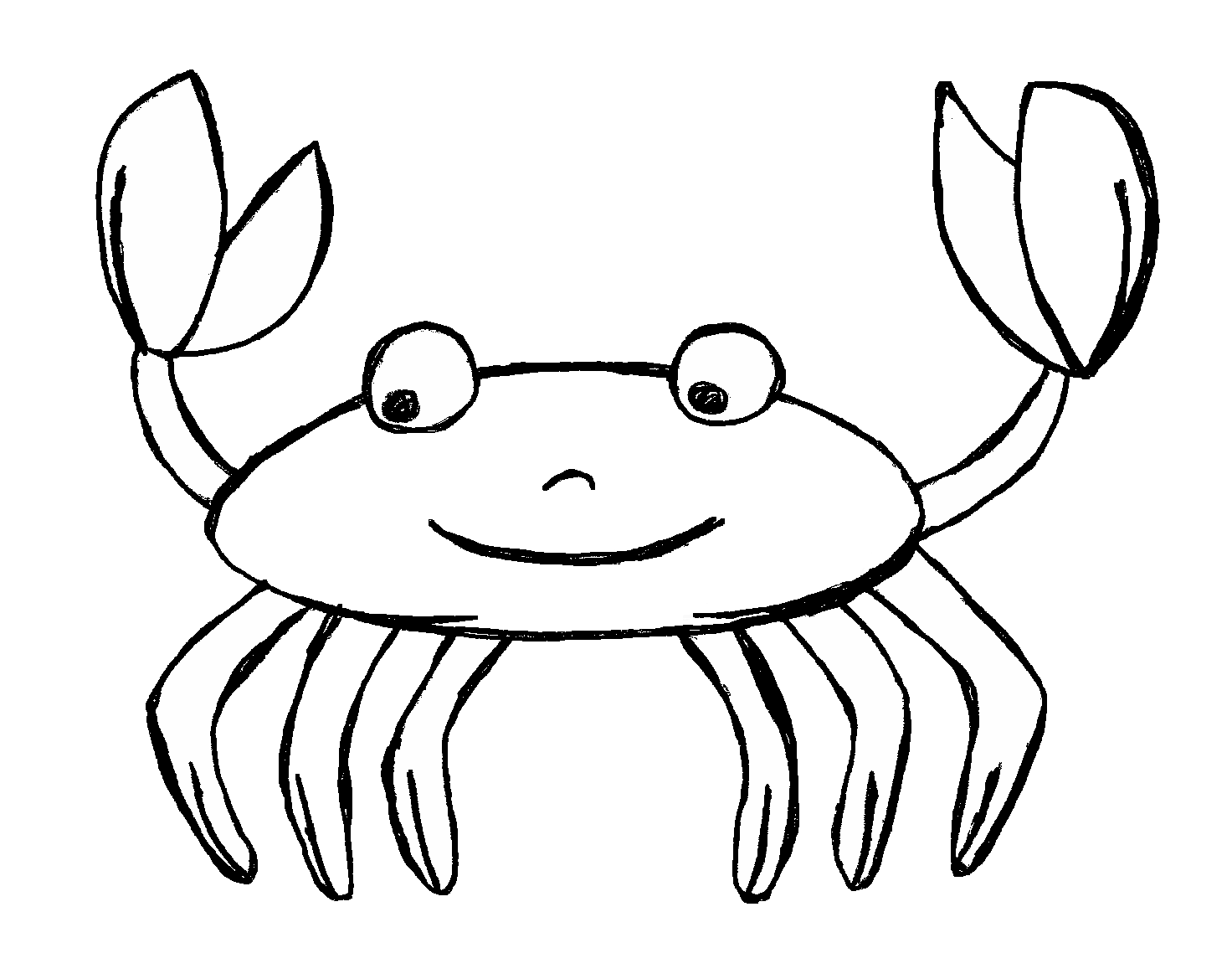 Crab in water clipart.