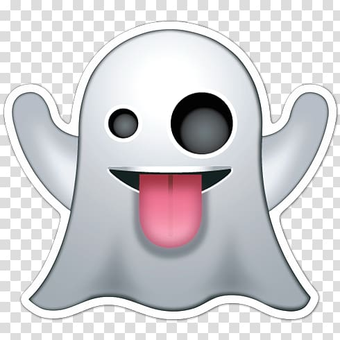 Ghost , Emoji Emoticon Ghost Smiley , Emoji transparent.