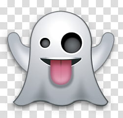 Emoji, ghost emoji transparent background PNG clipart.