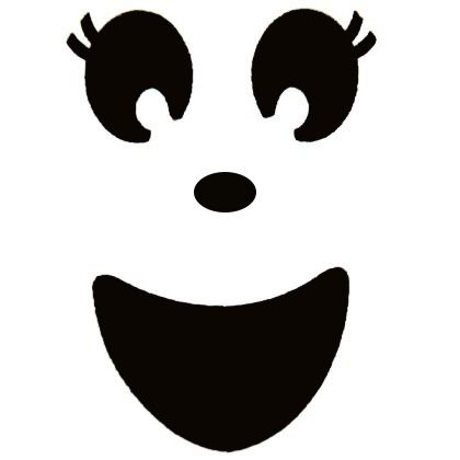 Girl Ghost Face Clipart.