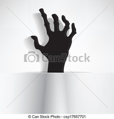 Creepy hands clip art.