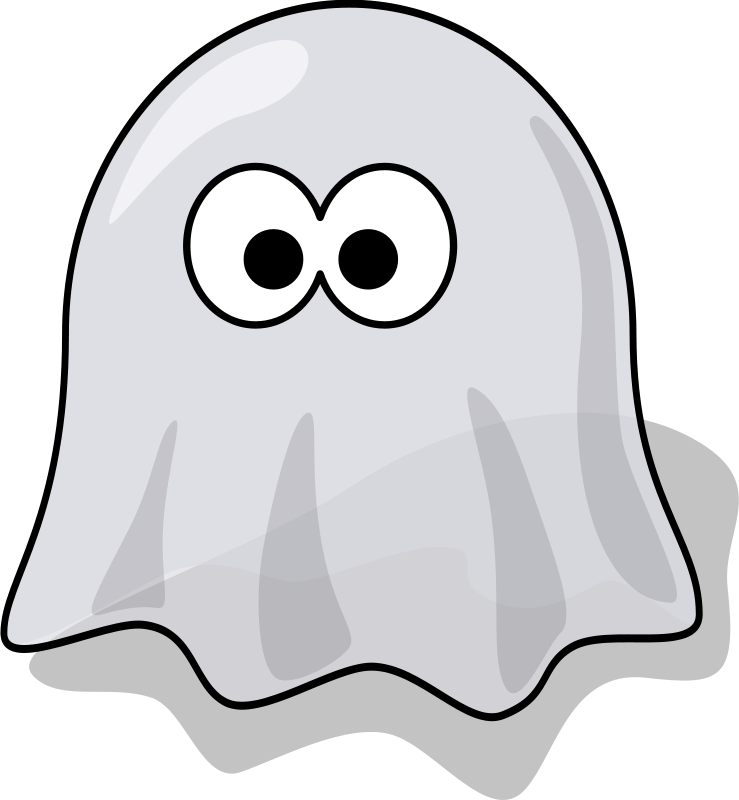 Free Clipart: Cartoon ghost.
